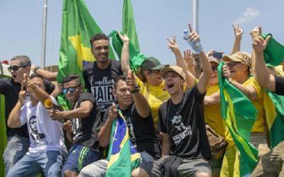 Protesto em apoio à candidatura de Jair Bolsonaro em Brasília.
