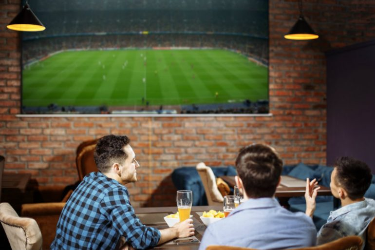 bar e futebol