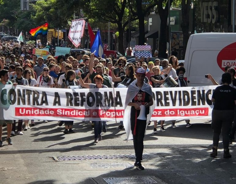 marcha contra previdencia