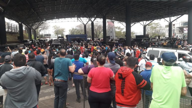 protesto paraguai