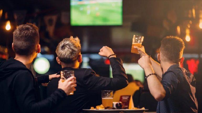 torcida nos bares