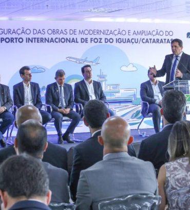 Obras no aeroporto vão dobrar o número de visitantes em Foz do Iguaçu, destaca Chico Brasileiro