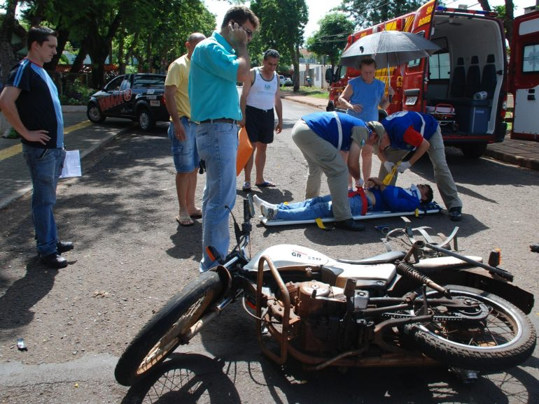 Acidente de moto (Foto Arquivo GDia)
