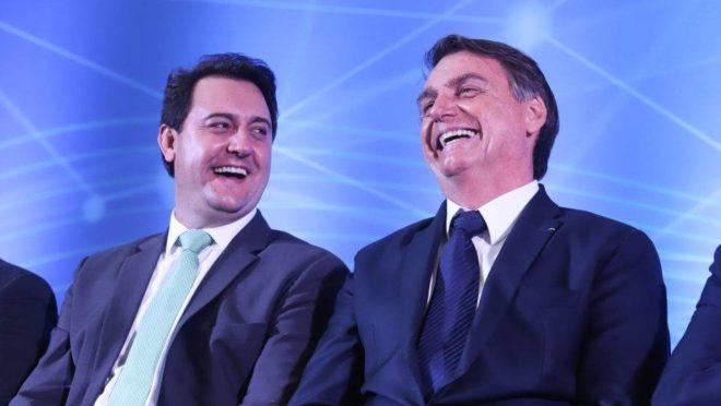 Ratinho Junior e Bolsonaro