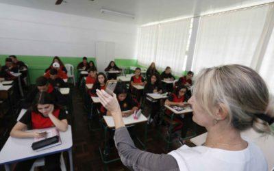 Sala de aula (Foto Arnaldo Alves Arquivo AEN)