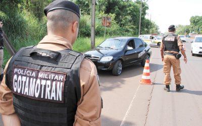 bloqueio policial (Foto GDia)