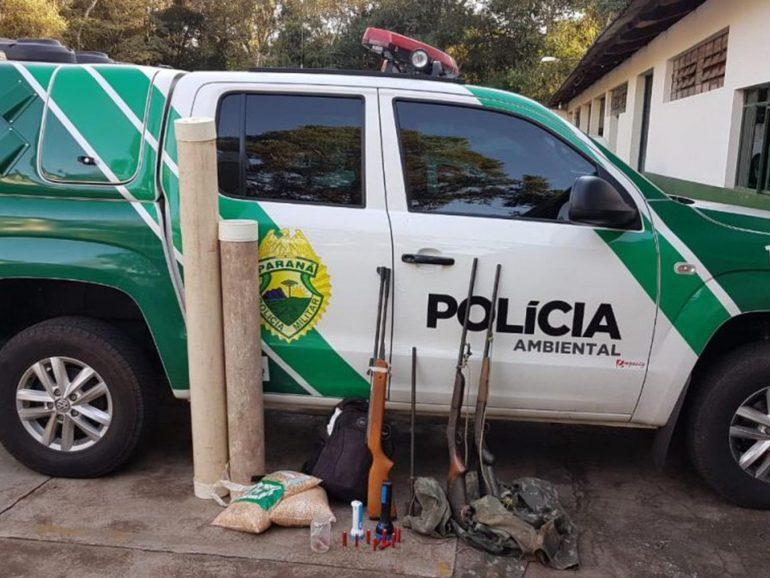 Apreensão polícia ambiental (Foto PM Ambiental)