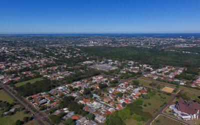 Foz do Iguaçu/PR - Vista aérea da região da Vila A. foto Kiko Sierich